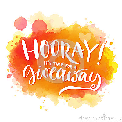 Free Hooray, It S Time For A Giveaway. Banner For Royalty Free Stock Photo - 62274875