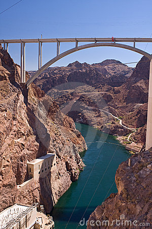 Free Hoover Dam Bypass Royalty Free Stock Photo - 15711305