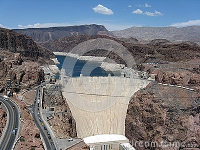 Hoover Dam and Lake Mead reservoir