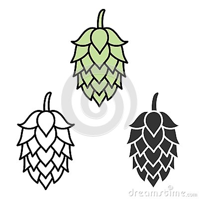 Free Hop Beer Sign Symbol Label Royalty Free Stock Photo - 50219895