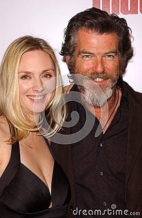 Hope Davis,Pierce Brosnan Editorial Stock Photo