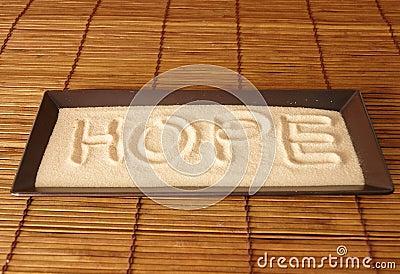 Hope on sand