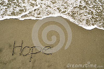 Hope in the sand