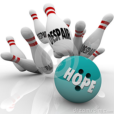 Hope Vs Despair Bowling Bowl Faith Conquers Doubt