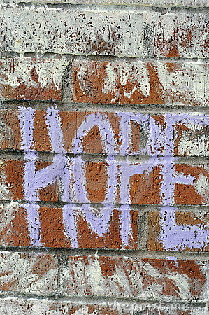 Hope written on brick wall with chalk