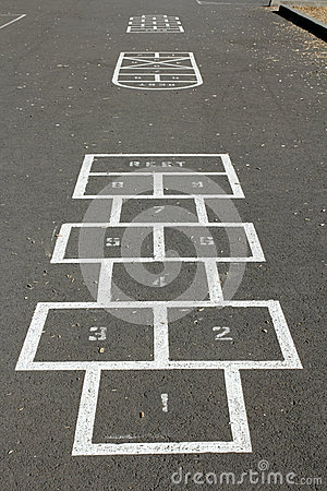 Hopscotch Courts Stock Photography - Image: 25795502