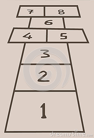 Hopscotch in vector