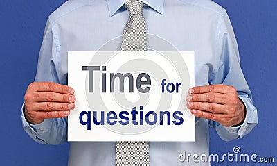 Hora para la muestra de las preguntas