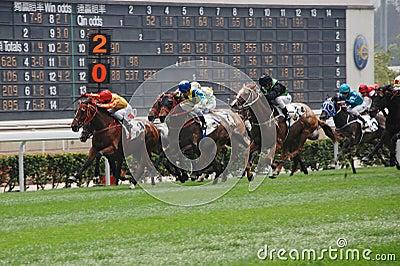 Horce racing in Hong Kong Editorial Photography