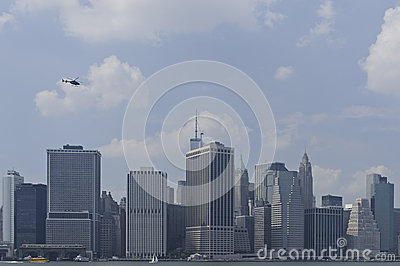 Horizon de van de binnenstad van Manhattan