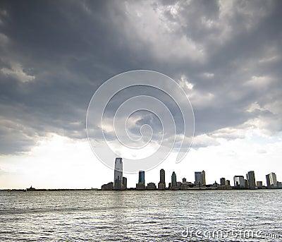 Horizon de ville de Jersey