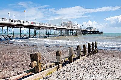 Horizonal of Worthing pier and beach
