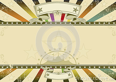 Horizontal background retro party Vector Illustration