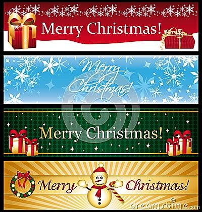 Horizontal christmas banners.
