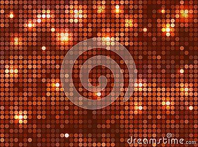 Horizontal copper  mosaic