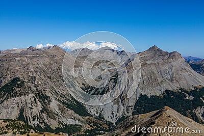 Horizontal dans les Alpes