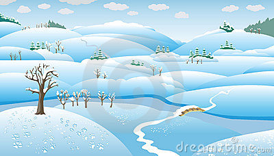Horizontal de l 39 hiver dessin anim images stock image 7927854 - Dessin de l hiver ...
