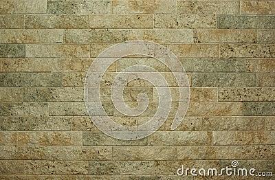 Horizontal flat stacked stone wall