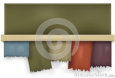 Horizontal gradient mesh torn tabs