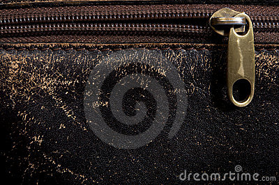 Horizontal leather background and  fastener