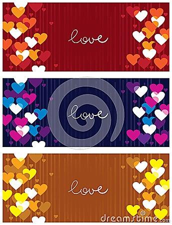 Horizontal love banners