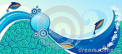 Horizontal marine banner