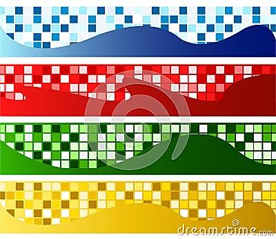 Horizontal mosaic banners
