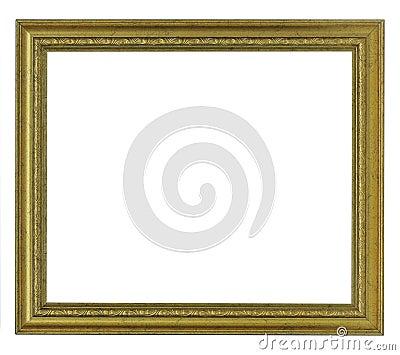 Horizontal old gold frame