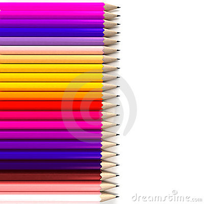Horizontal pencil background