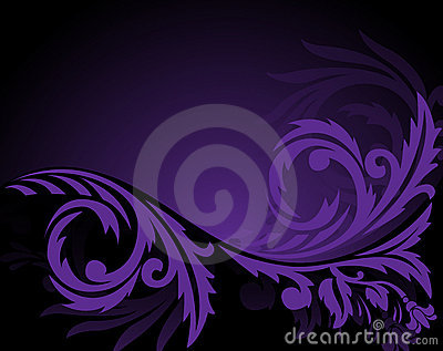 Horizontal purple ornament