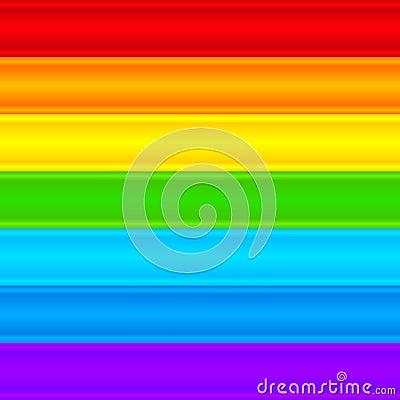 Horizontal rainbow plastic stripes abstract vector