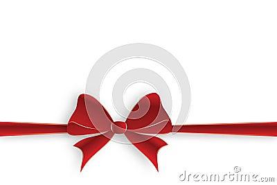 Horizontal red ribbon