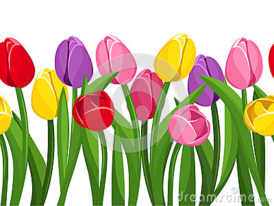 vector horizontal seamless background with colored