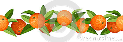 vector horizontal seamless background with oranges