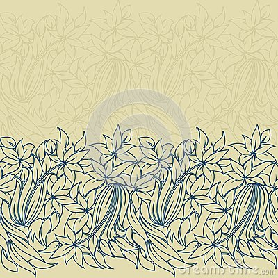 Horizontal seamless floral pattern