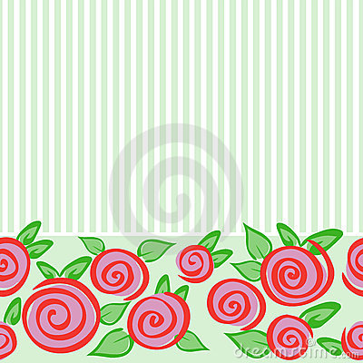 Horizontal Seamless Ornament With Roses Royalty Free Stock Image - Image: 18394176