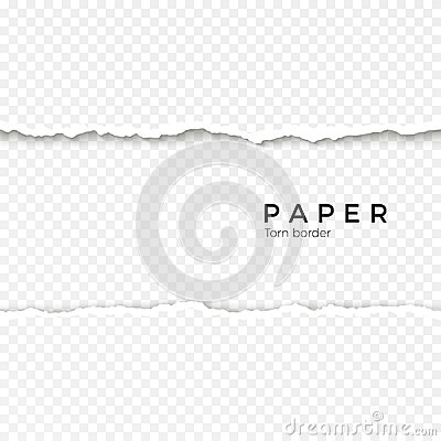Free Horizontal Seamless Torn Paper Edge. Rough Broken Border Of Paper Stripe. Vector Illustration Royalty Free Stock Photography - 109062817