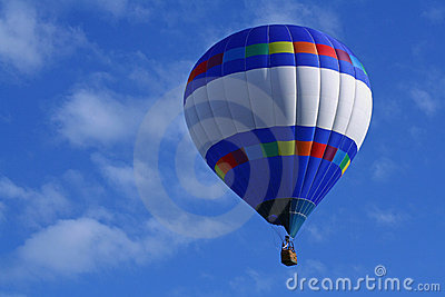 Horizontal Strips Hot Air Balloon