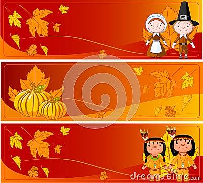 Horizontal Thanksgiving Banners