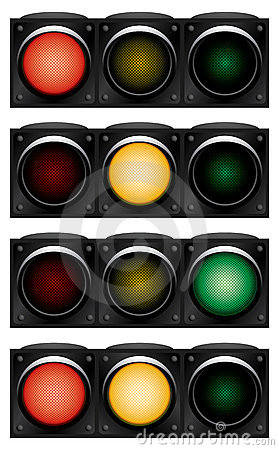 Horizontal traffic-light.