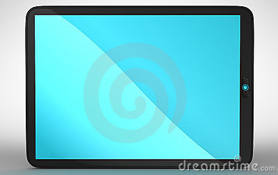 Horizontal view of modern Tablet PC