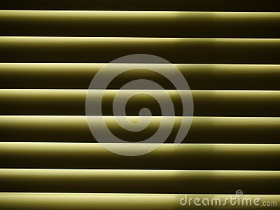 Horizontal window blinds, close up