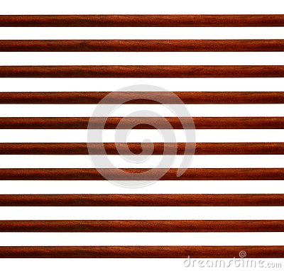 Horizontal wood stripes