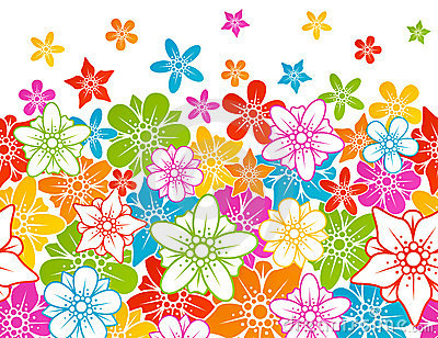 Horizontaler nahtloser mit Blumenhintergrund