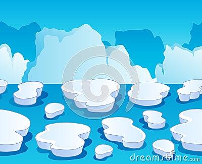 Horizontally seamless sea ice 1