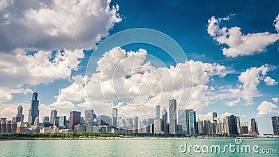 Horizonte hermoso de Chicago, Illinois