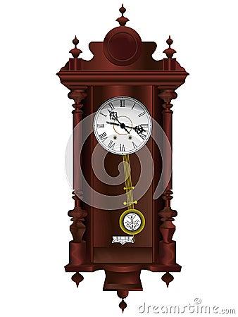 horloge en bois ancienne photo stock image 4549440. Black Bedroom Furniture Sets. Home Design Ideas