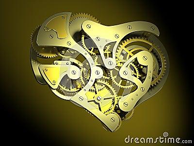 Horloge en forme de coeur