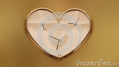 Horloge en forme de coeur dans le timelapse clips vidéos