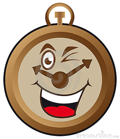 Horloge heureuse
